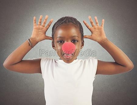 grimace little girl
