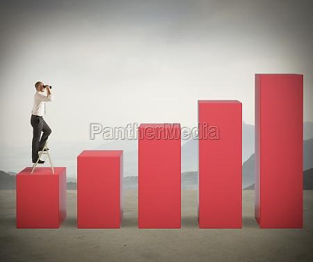 businessman looks for success