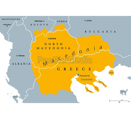geographical region of macedonia political map