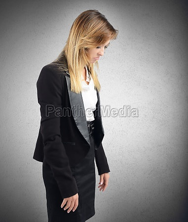 sad businesswoman