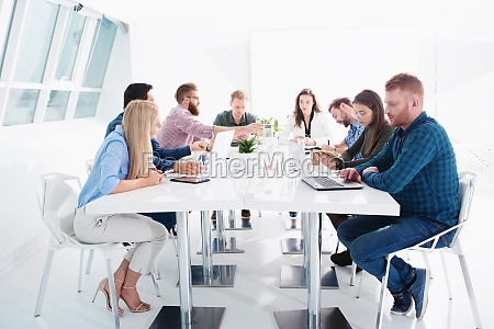 meeting of business people concept of