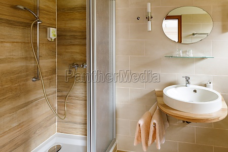 bathroom wc and shower in a