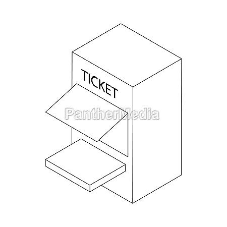 ticket window icon isometric 3d