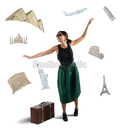 dreamy elegant tourist