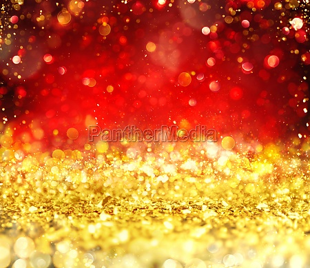 christmas glowing gold and red background