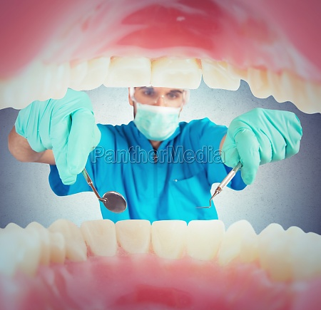dentist takes care
