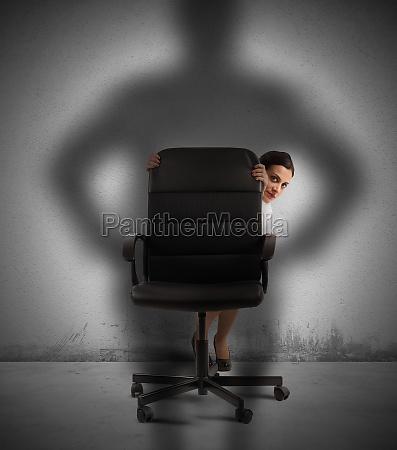 businesswoman frightened
