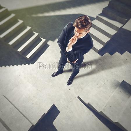 businessman undecided on future