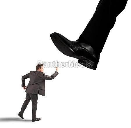businessman against boss