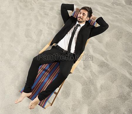 businessman needs a vacation