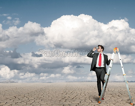 businessman in search of business