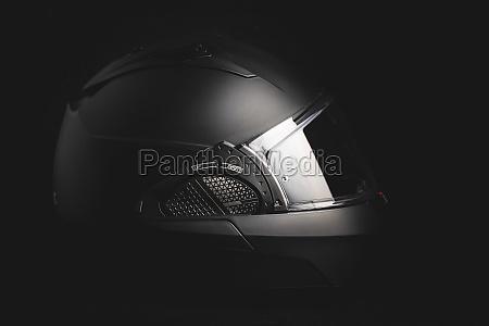 black modular motorcycle helmet