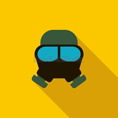 gas mask icon flat style
