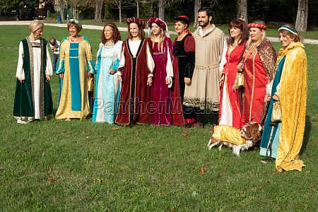 medieval party historic town city of