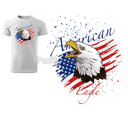 t shirt design with bald eagle
