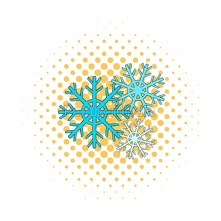 snowflakes icon comics style