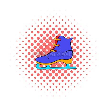 skates icon comics style