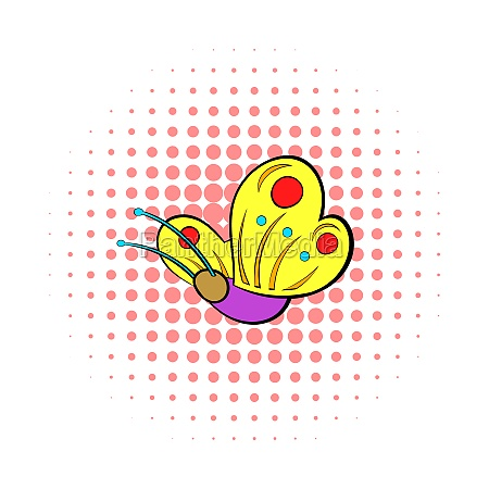 butterfly icon comics style