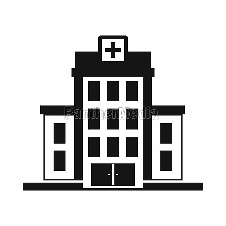 hospital icon simple style