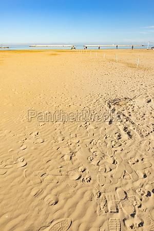 the beach of city of pescara