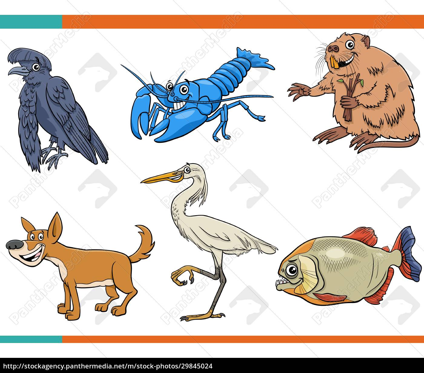 cartoon, funny, wild, animals, comic, characters - 29845024