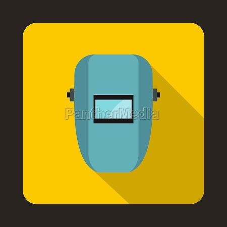 welding mask icon in flat style