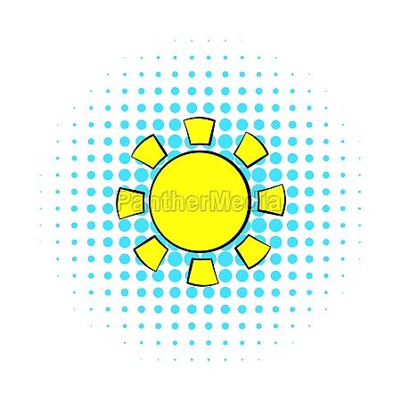 sun icon comics style