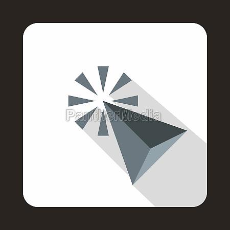 click cursor arrows icon flat style
