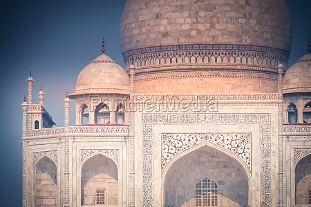 the taj mahal which is wrapped