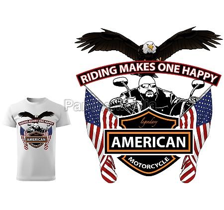 motorcyclist t shirt design with slogan
