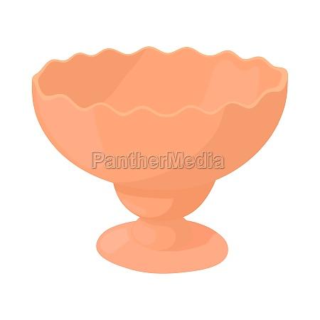 vase for jam icon in cartoon