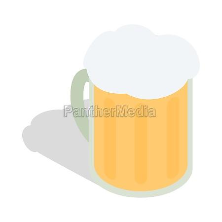 beer mug icon isometric 3d style