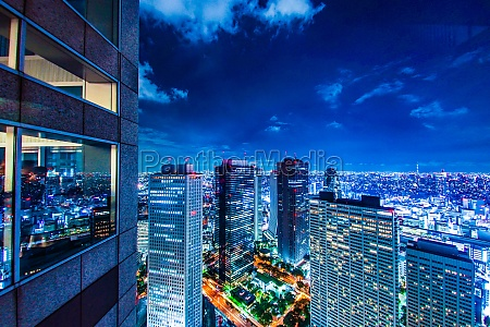 tokyo night view seen from the