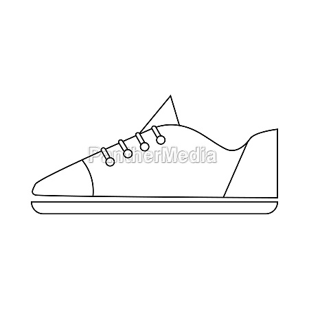 male sneaker icon in outline style