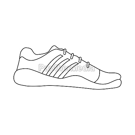 sneaker shoe icon in outline style