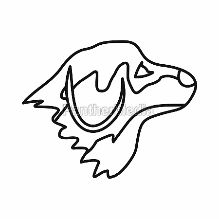 retriever dog icon outline style