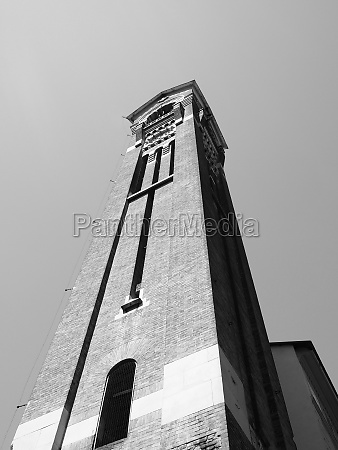 san giuseppe church steeple in turin