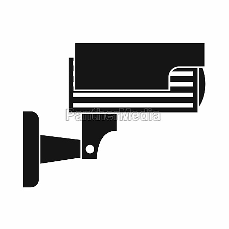 surveillance camera icon simple style