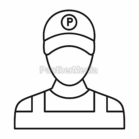 parking attendant icon outline style