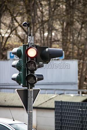 traffic lights in road traffic