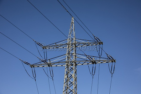 steel mast with power lines