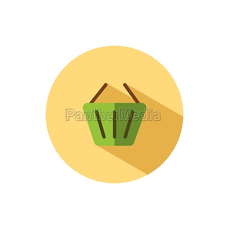 empty shopping basket flat icon in