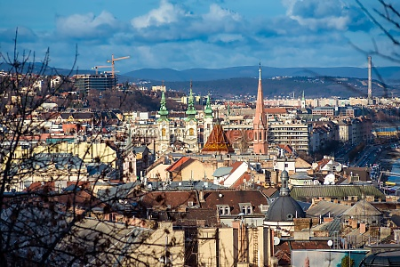 rooftop view of buda budapest hungary