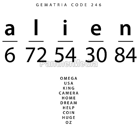 alien word code in the english
