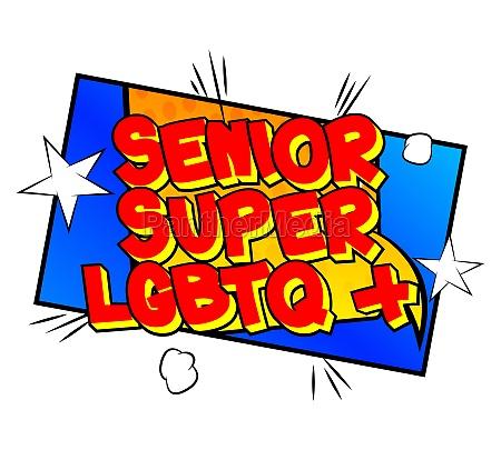 senior super lgbtq comic book