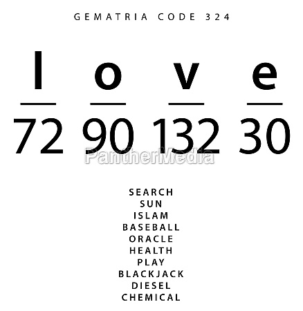 love word code in the english