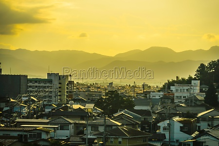 dusk and residential area of the