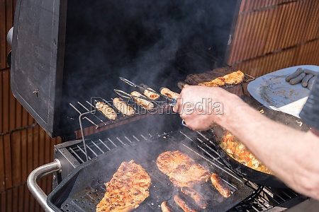 grilling on the grill grilling