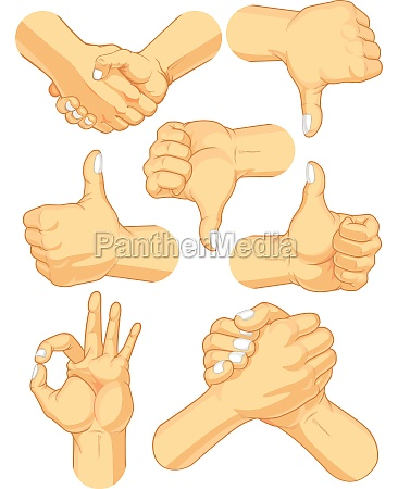 hand gesture finger sign language symbol