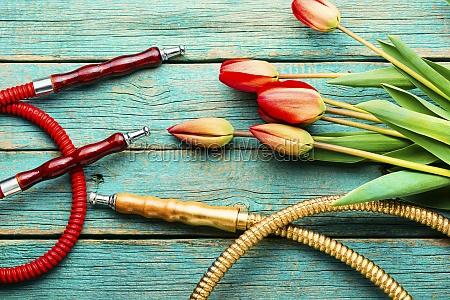 oriental hookah with tulip flavor